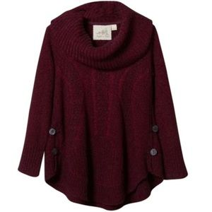 Anthropologie Boucel Cable Knit Wool Blend Sweater